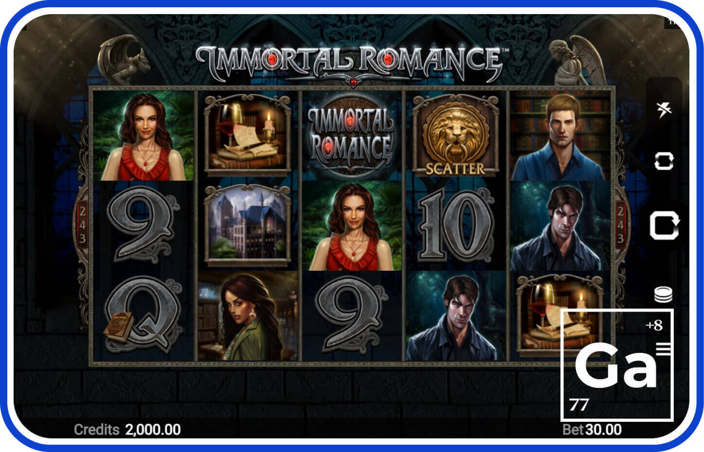 Immortal Romance slot by Microgaming